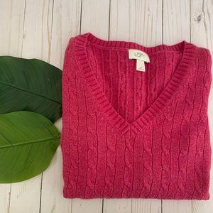 Ann Taylor Loft cranberry  Sweater medium